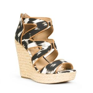 Just Fab Loz Feliz Wedge Sandals Size 8.5M